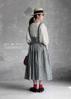 【楽天市場】【送料無料】Joie de Vivre先染めリネン千鳥柄ブレイシーズタックスカート:BerryStyleベリースタイル Beautiful Outfits, Cute Outfits, Out Of The Closet, Dress To Impress, Korean Fashion, Creations, Women Wear, Shirt Dress, Couture