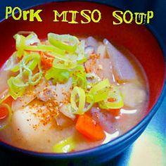 豚汁の季節になりましたねっヾ(●´∇`●)ノ - 6件のもぐもぐ - お野菜た~っぷりほっこり豚汁♥ by hren1110