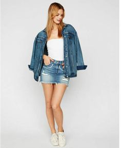 ada5a47fa9 metallic arrow destroyed denim mini skirt  distressing shiny arrow Denim  Skirt Outfits