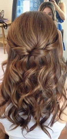 Half up half down hairstyles (11)