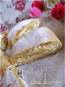 Barbi konyhája: Almás-mákos és túrós rétes Zsanuáriától ♥ Hungarian Cake, Strudel, Fudge, Bread, Cheese, Pastries, Food, Kuchen, Brot