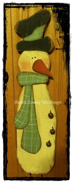 Marie's Country Woodcrafts: Tall Skinny Snowman