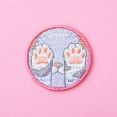 kitten patch  kawaii pastel fairy kei cute kitten fachin patch accessories bando under20 under30 under10
