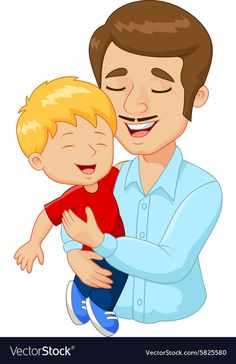 Cartoon happy family father holding son vector image on VectorStock Diy Father's Day Gifts, Father's Day Diy, Art Drawings For Kids, Amazing Drawings, Father Cartoon, Happy Fathers Day Images, Flashcards For Kids, Cartoon Clip, Family Theme