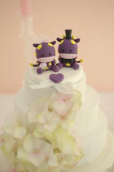 https://flic.kr/p/mUqBGW | Wedding Cake Topper-love cow,ox | www.etsy.com/listing/54311959/love-angels-wedding-cake-to...