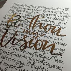 Be Thou My Vision Hymn Art Lyrics Ink and by FabulousFancyPants