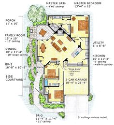 Florida Mediterranean Southwest House Plan 56518 More