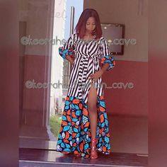 African wrap dressStripes and ankara wrap dressafrican