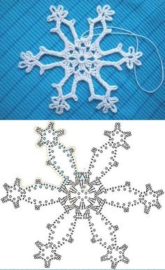Wonderful DIY Crochet Snowflakes With Pattern Crochet snowflake chart Crochet Snowflake Pattern, Crochet Stars, Crochet Motifs, Crochet Snowflakes, Crochet Diagram, Crochet Doilies, Crochet Flowers, Crochet Stitches, Crochet Patterns