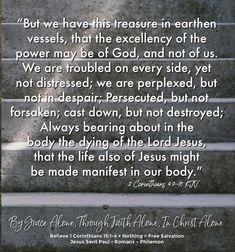 2 Corinthians 4:7-10 KJV