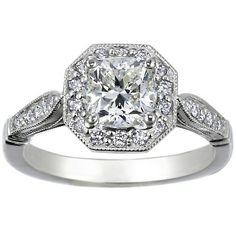 Big Cushion Engagement Ring for Proposal www.fashionbelief.com