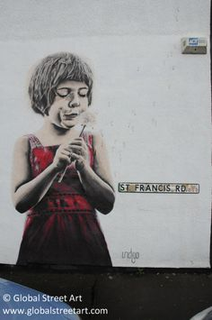 Indigo painting in Bristol. A perennially endearing image!