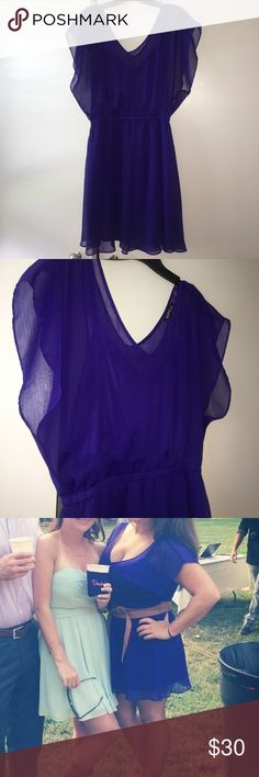 Dress Short purple dress sheet with built in slip worn 3 times to special events no wear and tear Express Dresses Mini