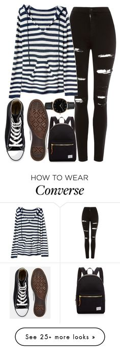 """Untitled #273"" by swimwearlover on Polyvore featuring Topshop, Gap, Converse and Herschel Supply Co."