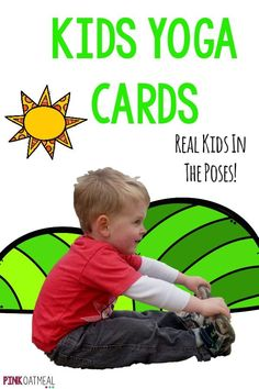 These yoga cards are so cute! I love that it is real kids in the yoga poses! Kids Yoga Poses, Yoga For Kids, Exercise For Kids, Physical Play, Health And Physical Education, Pediatric Physical Therapy, Pediatric Ot, Occupational Therapy, Therapy Activities