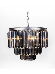 Chicago Collection Offers Crystal Pendants Available As Wall Lights And Suspension Chandeliers In Clear Or Smoked