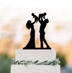 Funny Wedding Cake Toppers, Personalized Wedding Cake Toppers, Wedding Topper, Silhouette Wedding Cake, Bride And Groom Silhouette, Kirigami, Silhouette Family, Cat Cake Topper, Wedding Humor