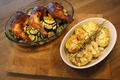 Glasierte Hähnchenschenkel mit Feta-Rosmarin-Kartoffeln und buntem Gemüse Ein tolles, einfaches Rezept, welches man während der Schwangerschaft sowie in der Stillzeit perfekt zubereiten kann. Nicht zu fettig, nicht zu schwer. Mit viel Gemüse und saftigen Hähnchenschenkeln.