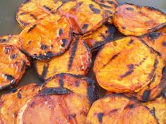 Weight Watchers Crispy Barbecued Sweet Potatoes  Ingredients: 3 tablespoons ketchup 1 tablespoon Worcestershire sauce 1 tablespoon red wine vinegar 1 teaspoon yellow mustard 1/2 teaspoon fresh ground pepper 1 lb sweet potato, peeled and cut into 1/4-inch-thick slices