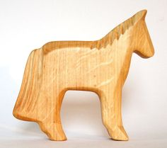 Wooden Horse Farm Animal Wooden Toys by Baumstammbuch on Etsy