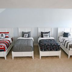 So many choices! Isn't it fun to see how these beds coordinate!? Thanks for capturing these for us