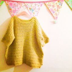 Frank&Olive Oversized Chunky Box Jumper by FrankandOliveCrochet - love the colour!!