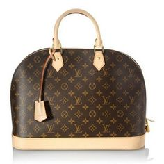 Louis Vuitton Monogram Canvas Alma MM Satchel Handbag