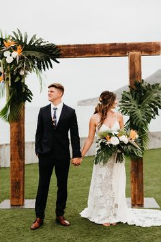 A Tropical San Diego Wedding By the Ocean