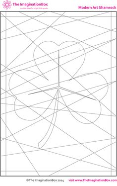 Hidden Shamrock - free printable for St. Abc Coloring Pages, Free Printable Coloring Pages, Free Coloring, Free Printables, Spring Art Projects, Craft Projects For Kids, Stencil Font, Stencil Designs, St Patrick's Day Crafts