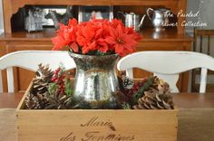 How to Distress Annie Sloan Chalk Paint Tutorial and My Dining Room Chairs Milk Crate Shelves, Crate Desk, Crate Table, Crate Furniture, Wooden Crates Table, Wooden Crates Wedding, Wooden Wine Boxes, White Dining Room Chairs, Dining Rooms