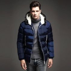 Buy a #Mens #Winter #Jackets #Men's#Parka#Fur #hood #Men #Coat #Winter#Casual & #Fit Thick #Man Down#Jacket  for #men #online in india at @fashionothon.com. #fashionothonhttp://fashionothon.com/ Click to ZOOM ... Like >> Share >> comment.