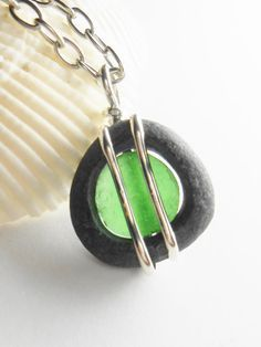 Sea Glass and Beach Stone Jewelry  Hand Carved by SeaFindDesigns, $50.00