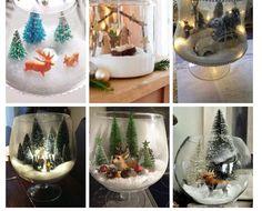 11 Ideas Originales Para Decorar Tu Casa En Navidad - Soy Moda Christmas World, Christmas Trends, Christmas Makes, Xmas Crafts, Crafts To Make, Diy Crafts, Christmas Candle Decorations, Wine Glass Crafts, Christmas Drawing