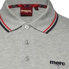 f605f52ad Merc Bagford Mineral Polo $64.00 Detailed Description (Mineral Colored Polo  w/black and red piping, 100% Cotton, Merc logo writen out)