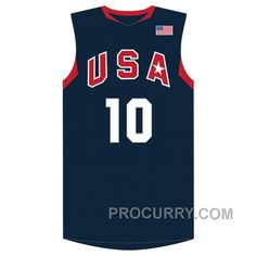 001804135476 2008 Olympics Kobe Bryant  10 USA Redeem Team Away Navy Jersey
