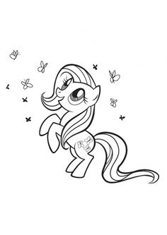 Print My Little Pony Fluttershy Coloring Pages