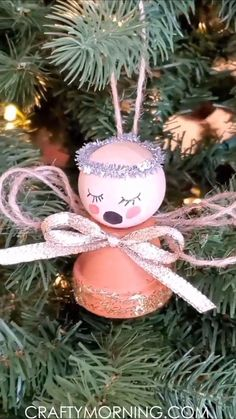Mini Flower Pot Angel Ornament- cute christmas gift idea for kids to make their parents or grandparents! Easy little craft diy project handmade idea. Step by step tutorial on making an angel ornament. # Gift Ideas for kids Mini Flower Pot Angel Ornament Mini Christmas Ornaments, Cute Christmas Gifts, Holiday Crafts, Christmas Decorations, Reindeer Ornaments, Clay Ornaments, Handmade Christmas Gifts, Cute Gifts, Flower Pot Crafts