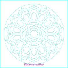Download & print mandala for colorpainting nr 009 by Droomcreaties, €1.50