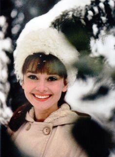 Audrey Hepburnin Bürgenstock, Switzerland, 1962.