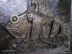 """Как сделать картину """"Вело-рыба"""" в стиле стимпанк, своими руками - Стимпанк - Поделки из разных материалов - Каталог статей - Рукодел.TV"""