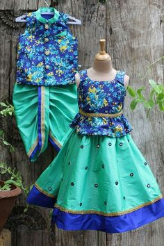 India fashion for kids - incredibly chic Baby Lehenga, Kids Lehenga, Kids Dress Wear, Kids Gown, Baby Dress Design, Frock Design, Baby Boy Dress, Little Girl Dresses, Kids Ethnic Wear