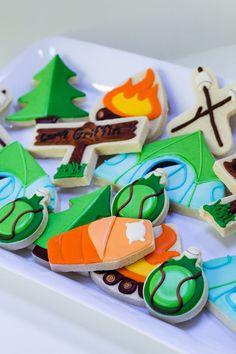 Camping Themed Sugar Cookies Kit's Cookies
