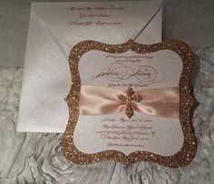 Primera invitación de la comunión Confirmación de invitación