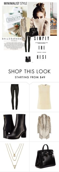 """""""Minimalist Style"""" by s-thinks ❤ liked on Polyvore featuring Love Quotes Scarves, Warehouse, Paul Smith, River Island, Banana Republic, Hermès, Leather, booties, everyday and Minimaliststyle"""
