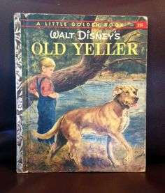 Vintage Childrens Books (2) Old Yeller and Pinocchio 1950s by AmericanVintageAve on Etsy