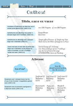 Transaksionele tekste: Briewe en CV Afrikaans HT en EAT graad 10-12 Voorbeelde en oefeninge. Afrikaans Language, Afrikaanse Quotes, Language Acquisition, Napoleon Hill, Vocabulary Words, Kids Education, Classroom Management, Teaching Resources, Blog