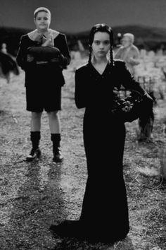 Christina Ricci (Wednesday) & Jimmy Workman (Pugsley Addams) in The Addams Family, 1991