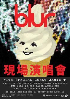 Blur - gig poster