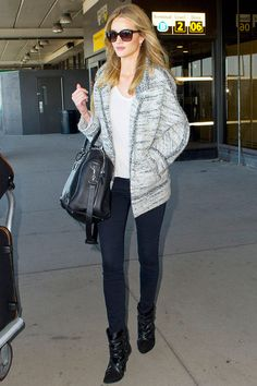 Rosie Huntington-Whiteley Street Style    Isabel Marant Boots