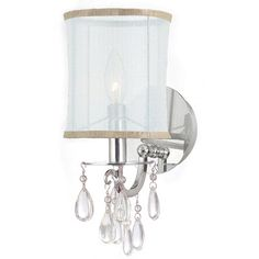 Crystorama Hampton 1 Light Wall Sconce & Reviews | Wayfair.ca - not quite it but looking for something similar